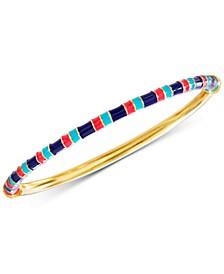 Gold-Tone Multicolor Bangle Bracelet
