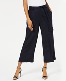 Bar III Cropped Wide-Leg Pants, Created for Macy's