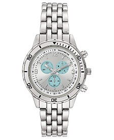 I.N.C. Women's Silver-Tone Bracelet Watch 34mm, Created for Macy's