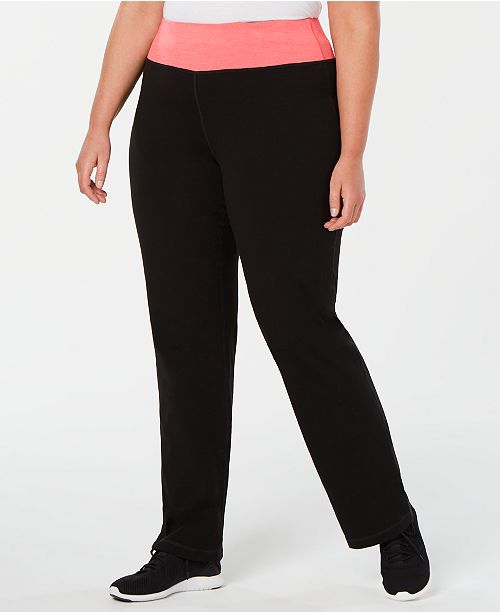 Ideology Plus Size Flex Stretch Active Yoga Pants, Created for Macy's