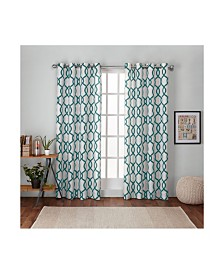 Exclusive Home Kochi Linen Blend Grommet Top Curtain Panel Pair