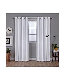 Vesta Textured Woven Blackout Grommet Top Curtain Panel Pair