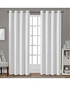 Exclusive Home Leeds Textured Slub Woven Blackout Grommet Top Curtain Panel Pair