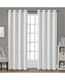 Exclusive Home Leeds Textured Slub Woven Blackout Grommet Top Curtain Panel Pair