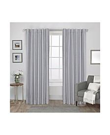"Zeus Solid Textured Woven Blackout Hidden Tab Curtain Panel Pair, 52"" x 84"""