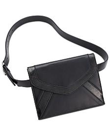 I.N.C. Metallic-Detail Envelope Belt Bag, Created for Macy's