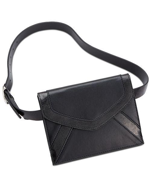 INC International Concepts I.N.C. Metallic-Detail Envelope Belt Bag, Created for Macy's