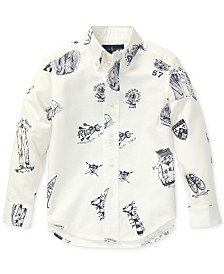 Polo Ralph Lauren Little Boys Icon-Print Cotton Oxford Shirt