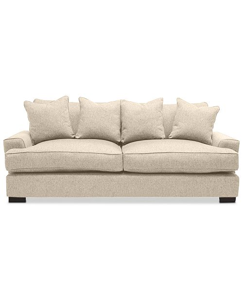 Ainsley 101 Fabric Sofa with 4 Toss Pillows, Created for Macy\'s