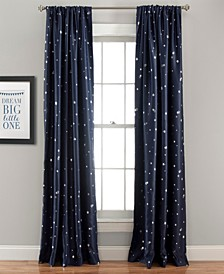 "Star Print 52"" x 84"" Blackout Curtain Set"