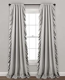 "Reyna Window Curtain Panel Set, Light 54""x84"""