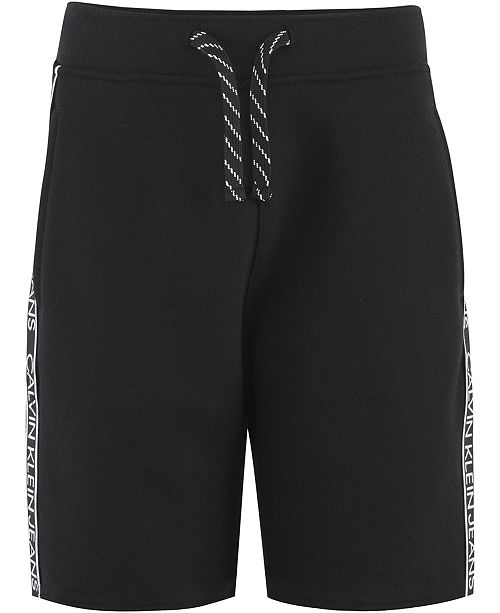 Calvin Klein Big Boys Logo Taping Knit Shorts