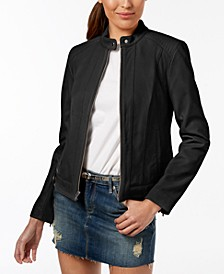 Seamed Leather Jacket