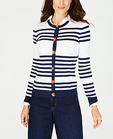 Charter Club Striped Cardigan, Created for Macy's