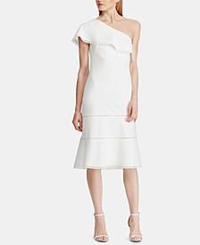 Crepe One-Shoulder Dress