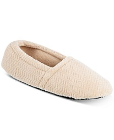 Women's Chevron Closed-Back Slippers