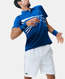 Lacoste Men's Novak Djokovic Center Geo Print Ultra Dry Polo