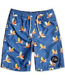 Quiksilver Little Boys Bird-Print Volley Swim Trunks