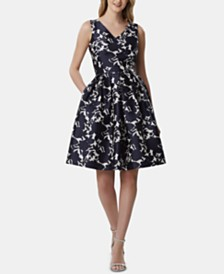 Tahari ASL Printed Fit & Flare Dress