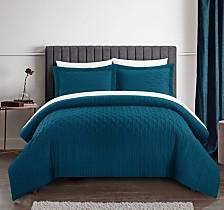 Chic Home Jazmine 7 Piece Queen Bed In a Bag Comforter Set
