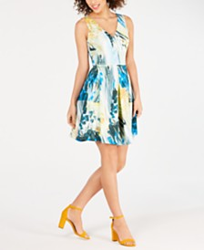 Taylor Printed Fit & Flare Dress