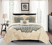 Raina 6 Piece Twin X-Long Bed in a Bag Quilt Set