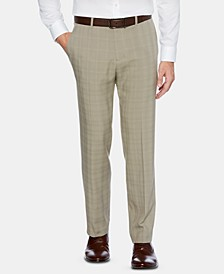 Men's Portfolio Modern-Fit Performance Stretch Non-Iron Moisture-Wicking Plaid Dress Pants