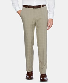Perry Ellis Men's Portfolio Modern-Fit Performance Stretch Non-Iron Moisture-Wicking Plaid Dress Pants