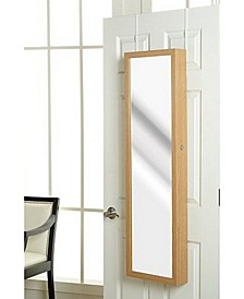 Plaza Astoria Over The Door Wall Mounted Jewelry Storage Armoire with Mirror