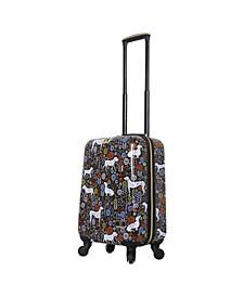 "Vicky Yorke Urban Jungle Dogs 20"" Hardside Spinner Luggage"