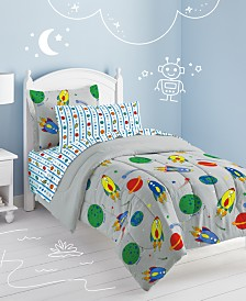 Dream Factory Space Rocket Twin Comforter Set