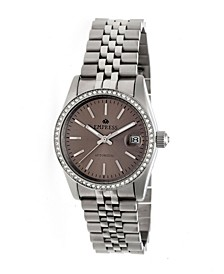 Constance Automatic Pewter Dial, Silver Stainless Steel Watch 37mm
