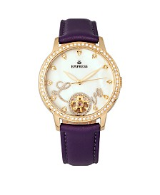 Empress Quinn Automatic Purple Leather Watch 41mm