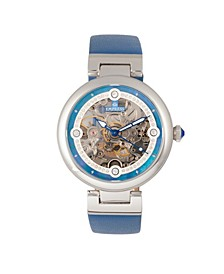 Adelaide Automatic Blue Leather Watch 38mm
