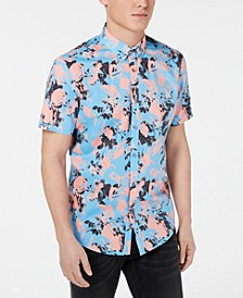 INC Men's Brushstroke Floral-Print Shirt, Created for Macy's