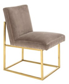 Jenette Velevet Side Chair, Quick Ship