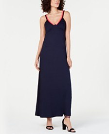 Trina Turk Smocked-Back Sleeveless Maxi Dress