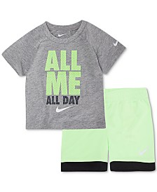 Nike Baby Boys 2-Pc. All Me Graphic T-Shirt & Shorts Set