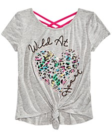 Big Girls Graphic-Print Crisscross Top