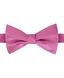 Tommy Hilfiger Men's Textured Stripe Pre-Tied Silk Bow Tie