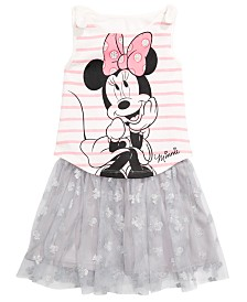 Disney Little Girls 2-Pc. Minnie Mouse Tank Top & Printed Skirt Set, Created for Macy's