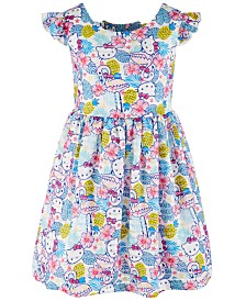 Hello Kitty Little Girls Printed Dress, Created for Macy's