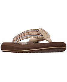 Skechers Women's Asana Flip-Flop Thong Sandals from Finish Line