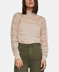 Striped Turtleneck Bodysuit