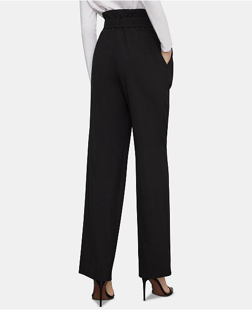 larges pour et Bcbgmaxazria a femmesnoir poches pantalons Pantalons a RL5Aj4