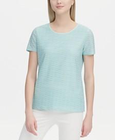 Calvin Klein Wavy-Striped Top
