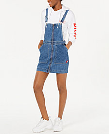 Dickies Cotton Zip-Front Overall Dress