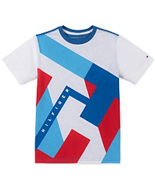 Tommy Hilfiger Little Boys Abstract Textured Logo T-Shirt