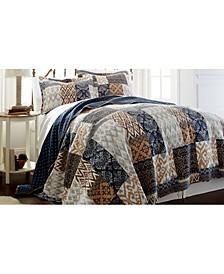 Sanctuary By Pct 100% Cotton 3 Pc Printed Reversible Quilt Sets Laura Full/Queen