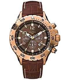 Men's N18522G NST Chrono Brown Leather Strap Watch
